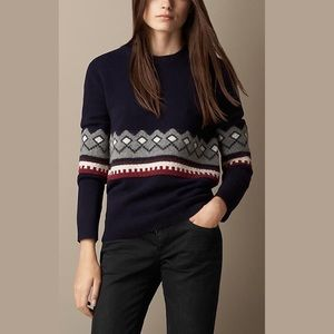 Burberry Wool Sweater Blue Size S